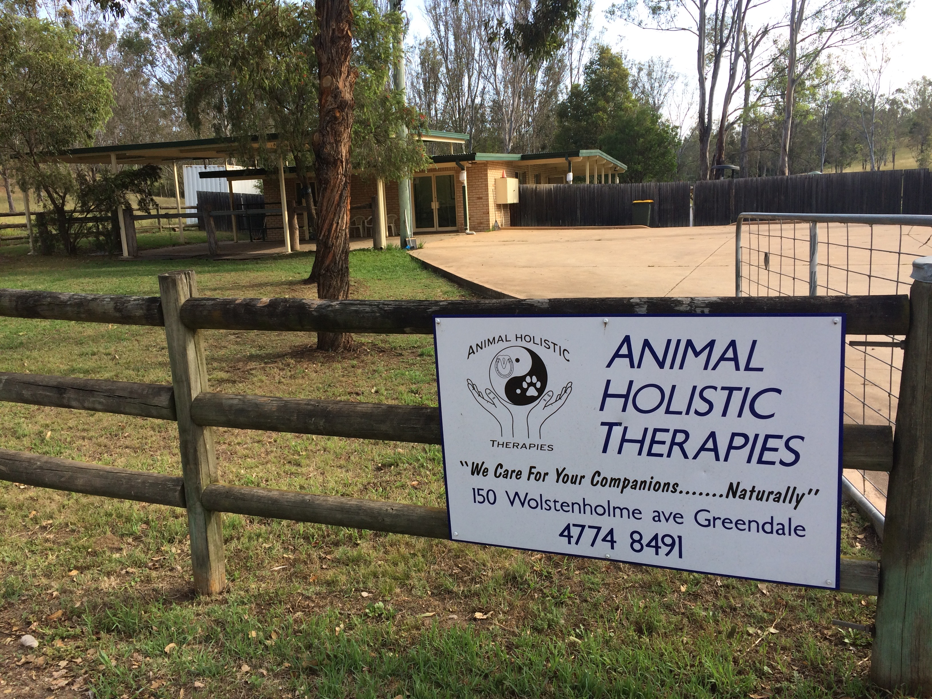 Imange of Animal Holistic Therapies road entrance